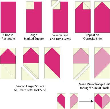 You'll Love These Easy Patchwork Heart Quilt Blocks | 39 ... : heart quilt block patterns - Adamdwight.com