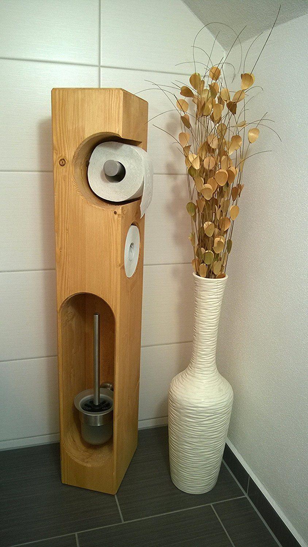 Toilettenpapierhalter Holz mit WC-Bürste | Woodwork | Pinterest | Wc ...