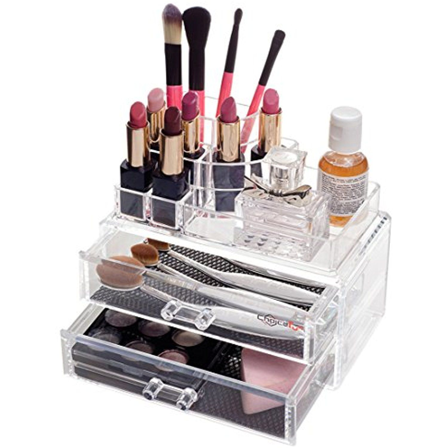 Choice Fun Stackable Acrylic Makeup Organizer And Jewelry Storage Case, Set  Of 2