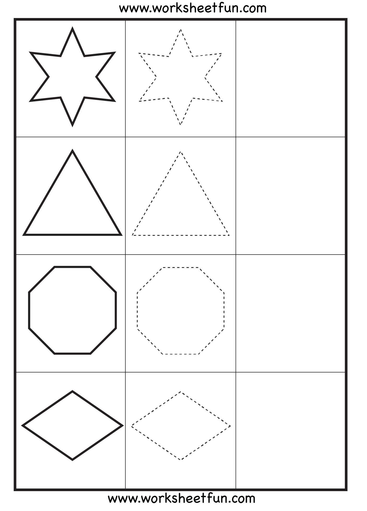 Shape Drawing Worksheets