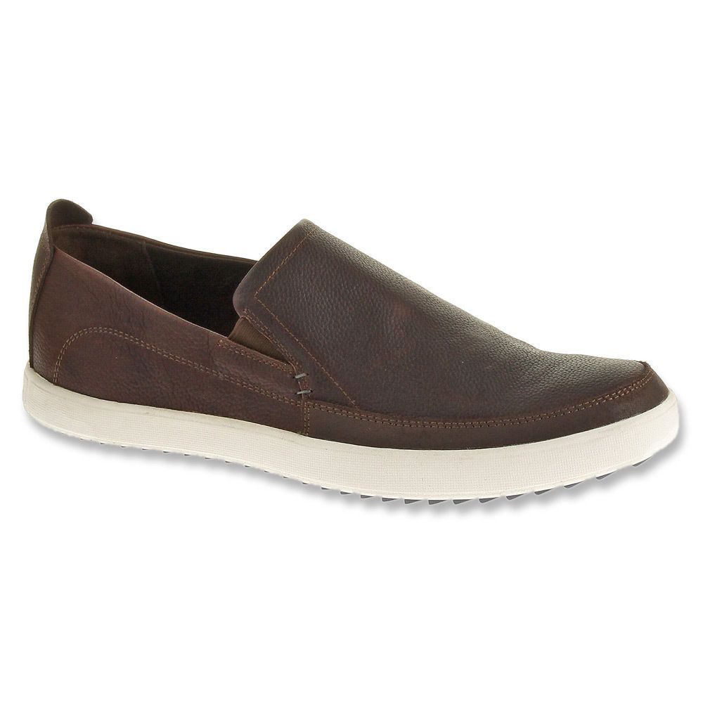 Men S Hush Puppies Roadside Slip On Mocc Toe Loafer Brown Leather H103643 Mens Hush Puppies Mens Casual Shoes Casual Shoes