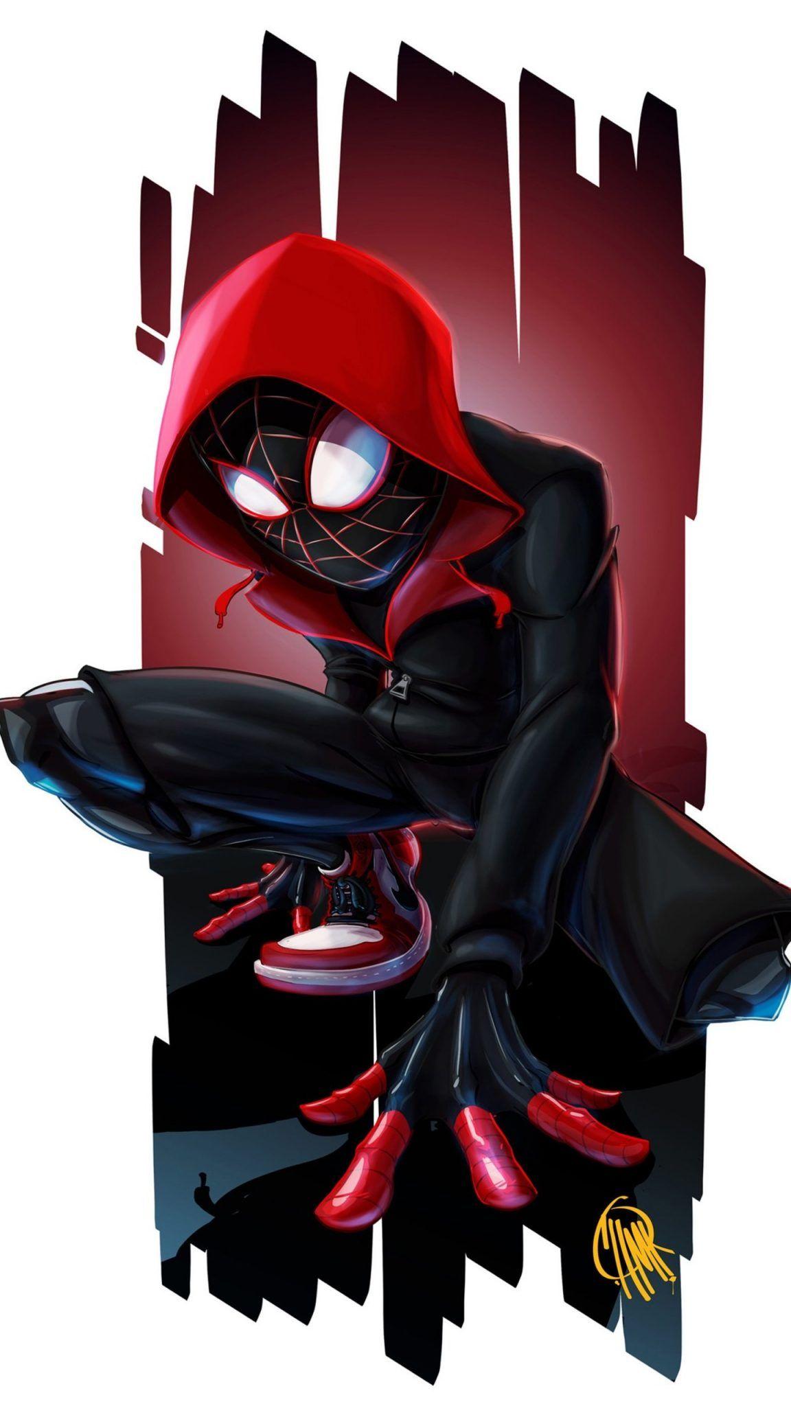 Black Spiderman Spider Verse Wallpaper Miles morales