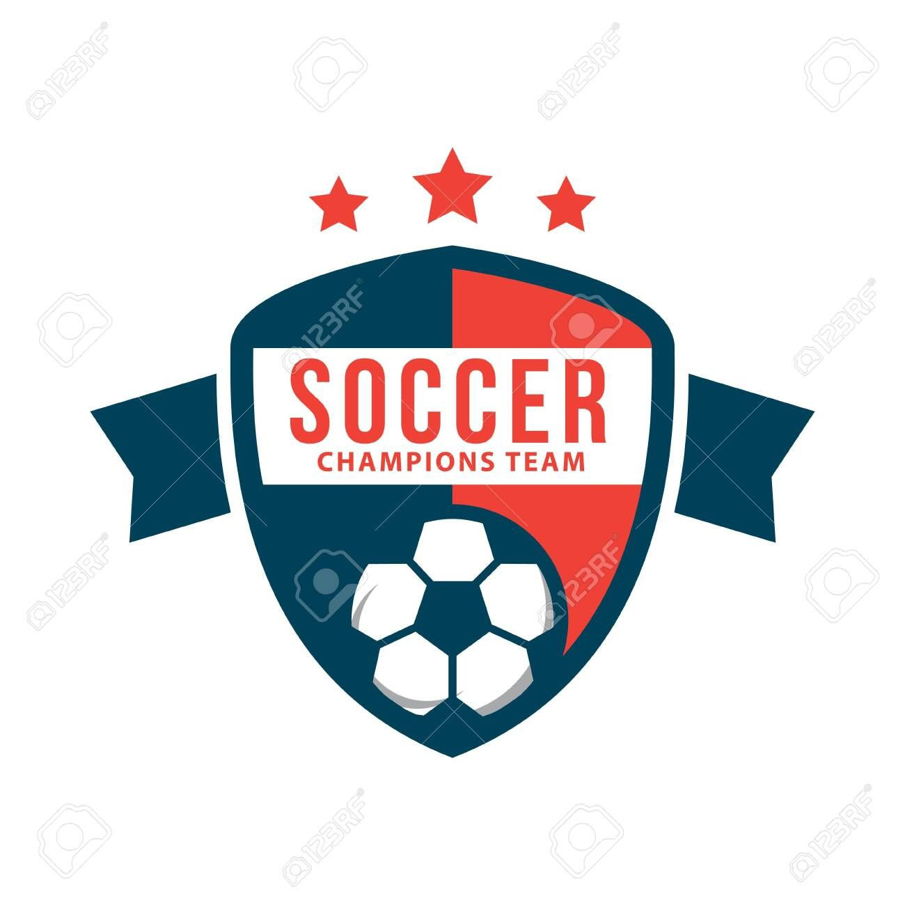 Soccer Club Logo Vector Template Design Illustration Affiliate Logo Club Soccer Vector Illustration In 2020 Creative Logo Cards Creative