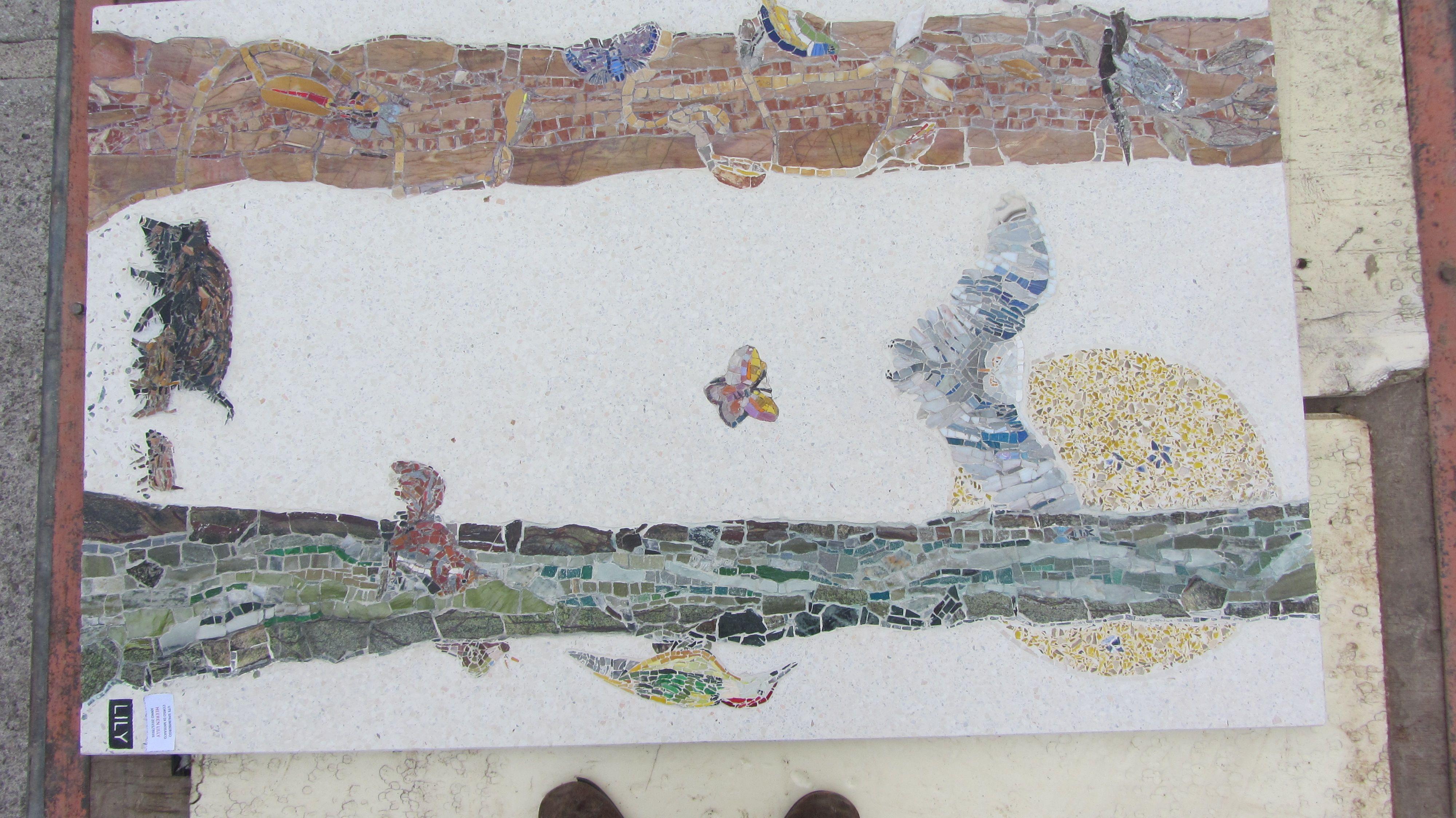 Mozaïek met terrazzo.Lily van Nunen