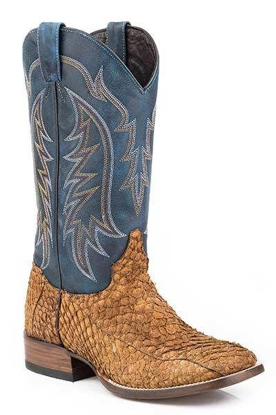 b77301d0b8607 Stetson Men's Amazon Wide Square Toe Cowboy Boots - HeadWest ...