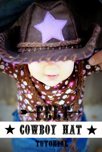 9aa820143bd How to Make a Felt Baby Cowgirl (or Cowboy) Hat -- SO cute!