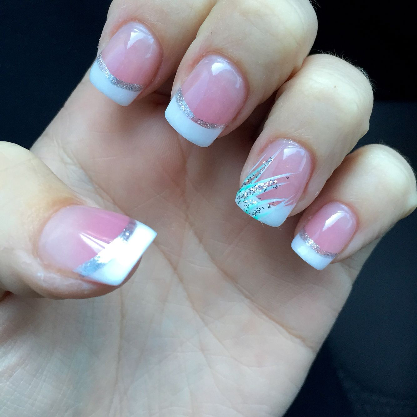 French tips with accent nail | beauty and clothes | Pinterest ...