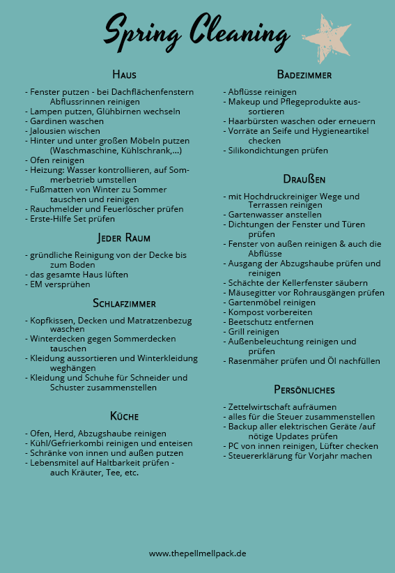 Putzplan Das Workbook The Pell Mell Pack Putzplan Fruhjahrsputz Hausreinigungs Tipps