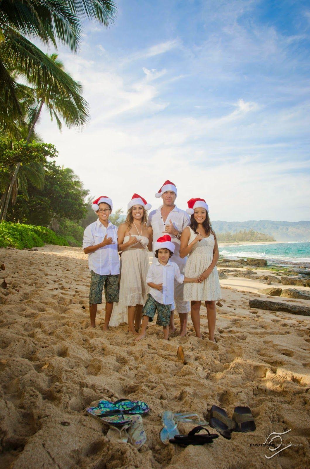 fun ideas for holiday photos, Hawaiian Christmas cards, coordinating ...