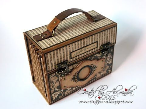 clayguana graphic 45 craft reflections suitcase vintage style mini album wenn buch. Black Bedroom Furniture Sets. Home Design Ideas