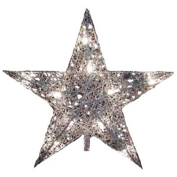 Kurt Adler 9-in Metallic Star Christmas Tree Topper ($30) ❤ liked