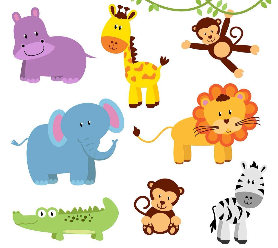 Animals Baby Jungle Animals Animal Clipart Free Baby Clip Art
