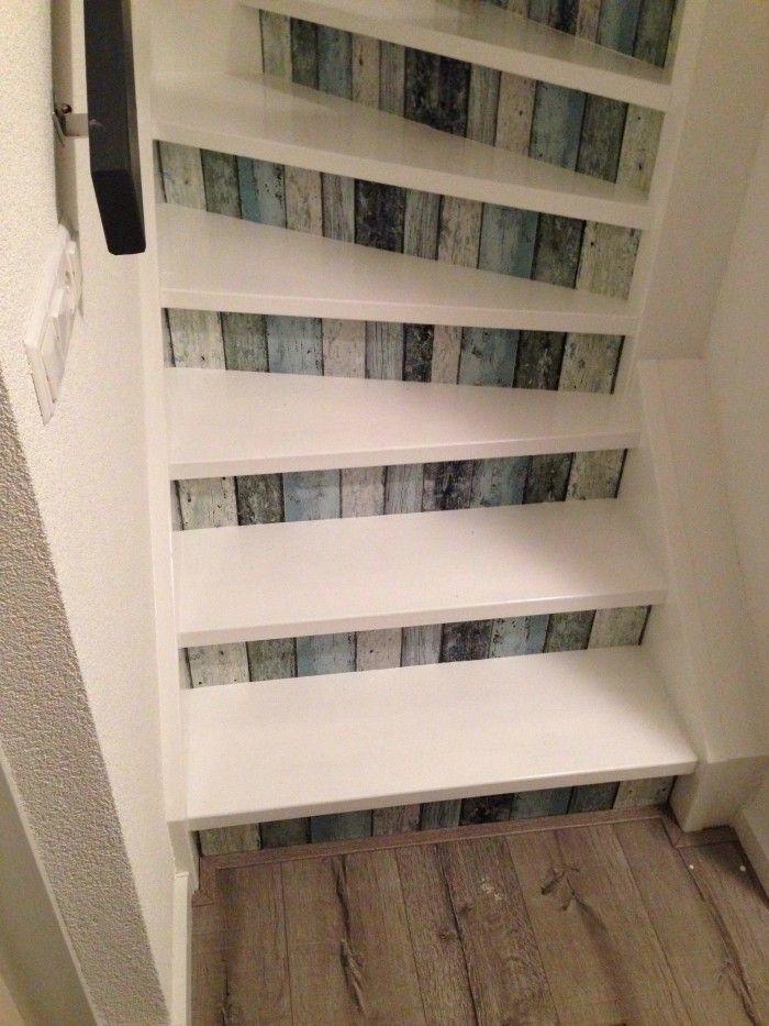 Trap bekleden met behang google zoeken trap pinterest zoeken google en met - Behang voor trappenhuis ...