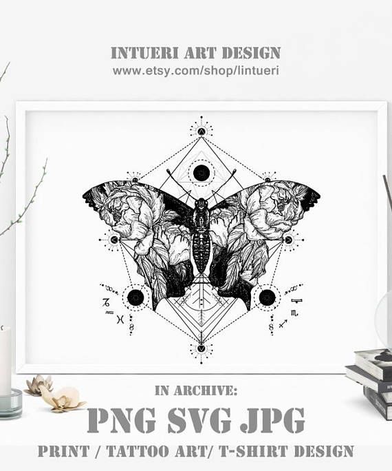 45b5d85df3cb1 Butterfly svg Butterfly tattoo in geometrical style. Beautiful butterfly  boho t-shirt design, wings
