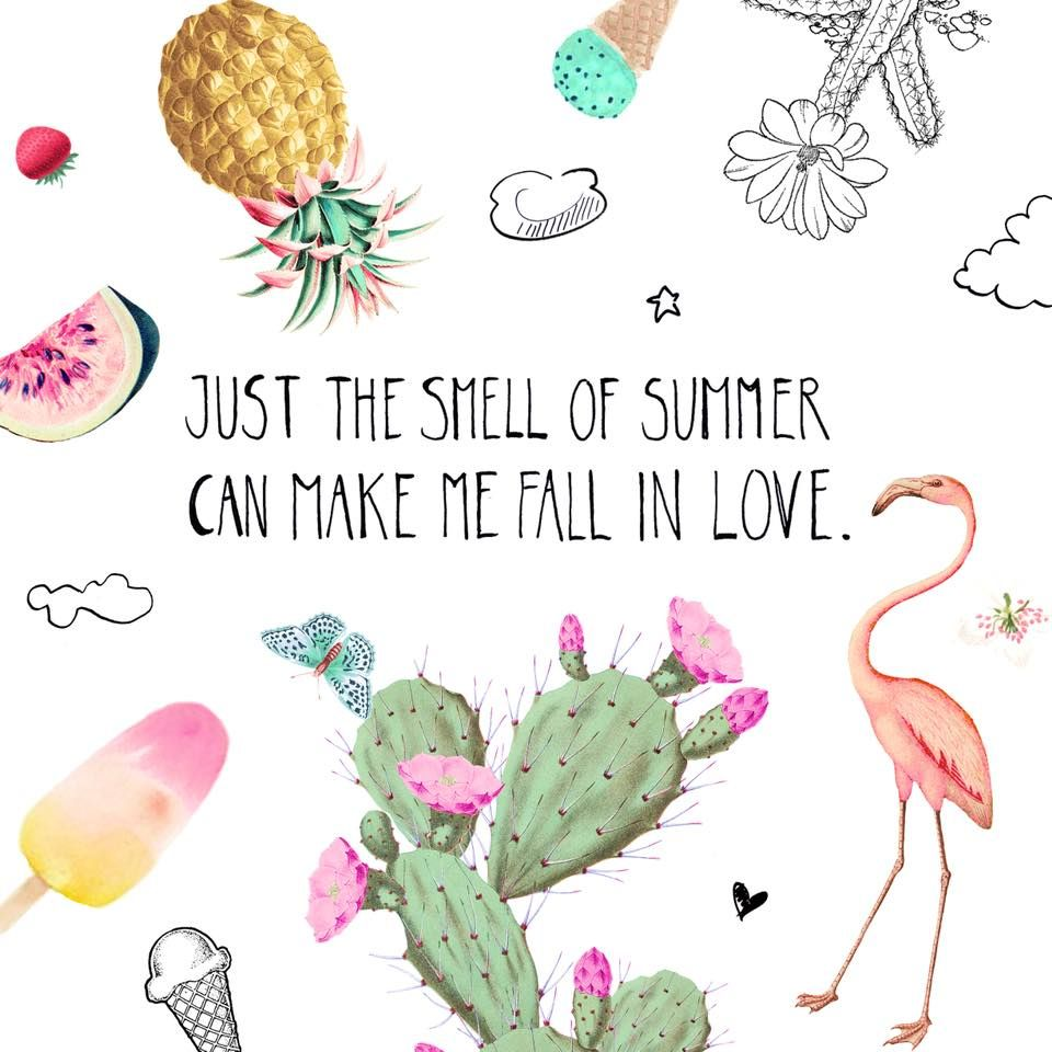Just the smell of summer can make me fall in love 🌵🌸🍍