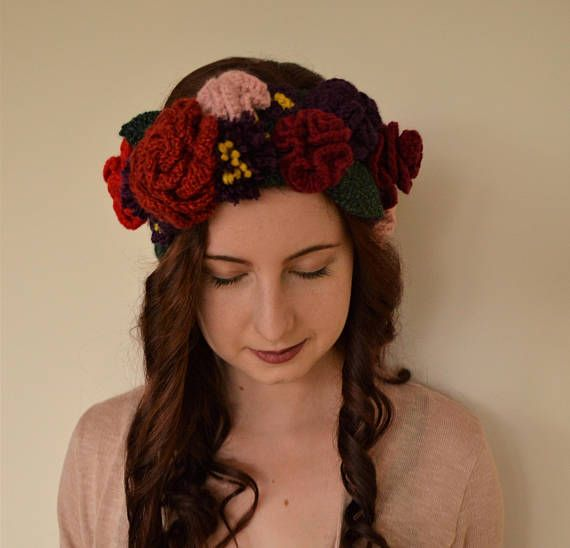 Flower Crown Ear-Warmer | häkeln | Pinterest | Häkeln