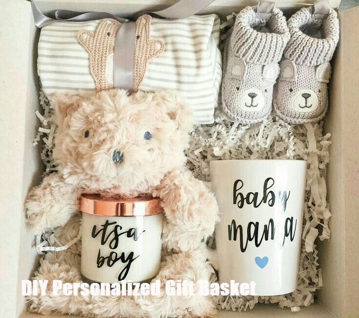 DIY personalisierte Geschenkkörbe - Baby Diy #personalisiertegeschenke DIY personalisierte Geschenkkörbe #hediyesepetleri