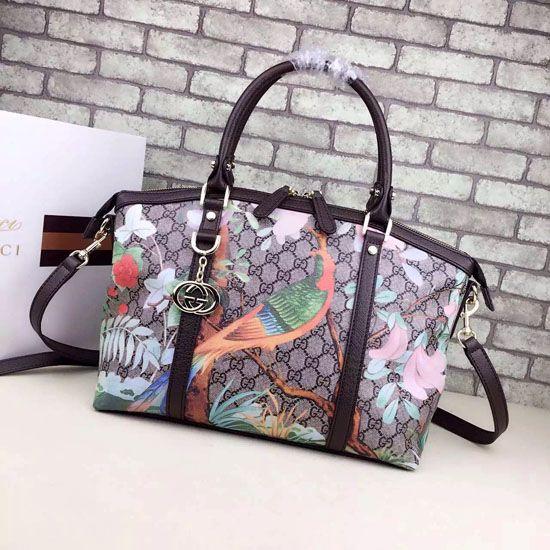 23d4070e5caf Tian GG Supreme Top Handle Bag 341503 Black   Gucci Shoulder Bags ...