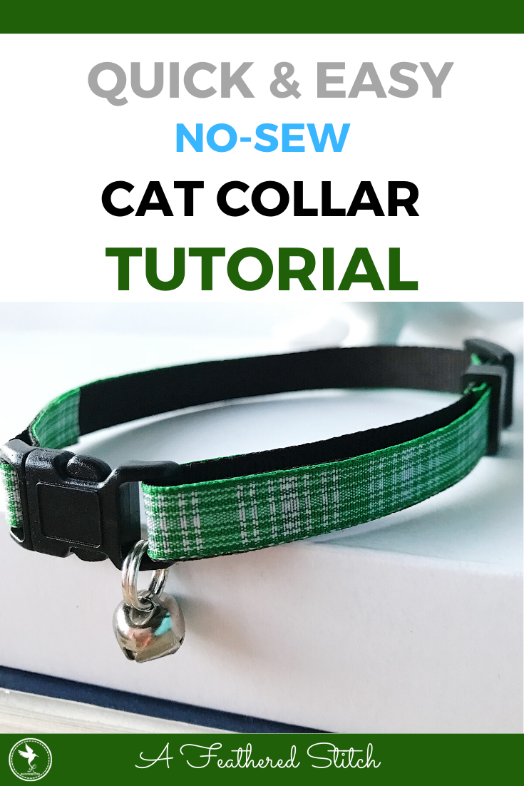 Diy No Sew Cat Collar With Bell A Feathered Stitch In 2020 Cat Collars Diy Cat Collars Diy Dog Collar