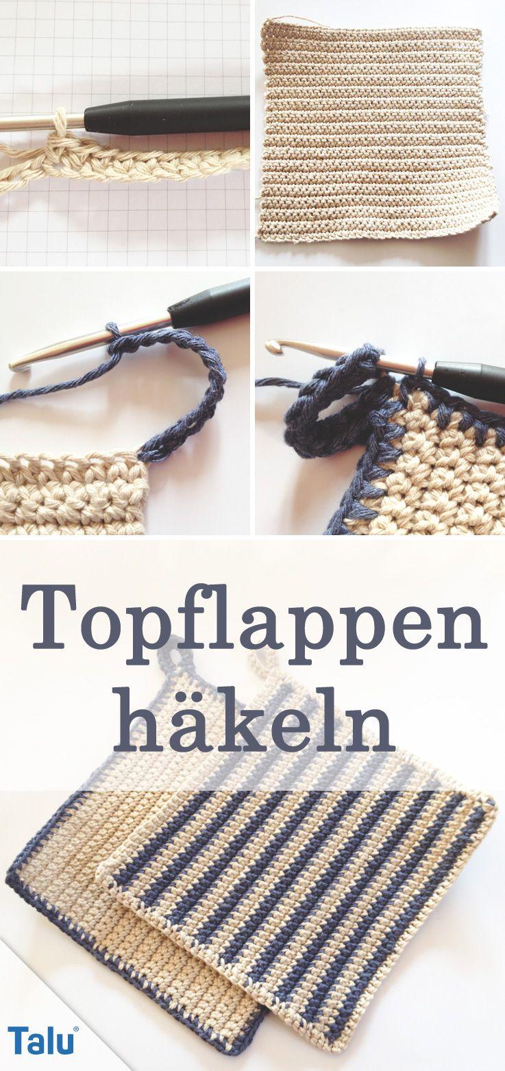 Topflappen häkeln - DIY-Anleitung für Anfänger | Topflappen häkeln ...