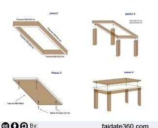 Mobili e arredamento tavolo legno fai da te for Costruire un tavolo ...