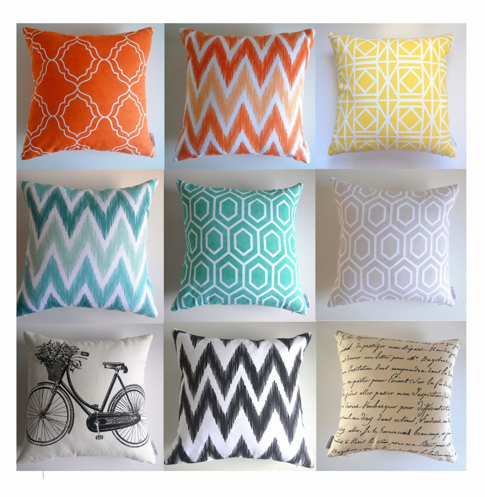 Geometric Cushion Cover Moroccan Lattice Chevron Bright Pillow Case 16 New Diy Outdoor Cushions Bright Pillows Geometric Cushions