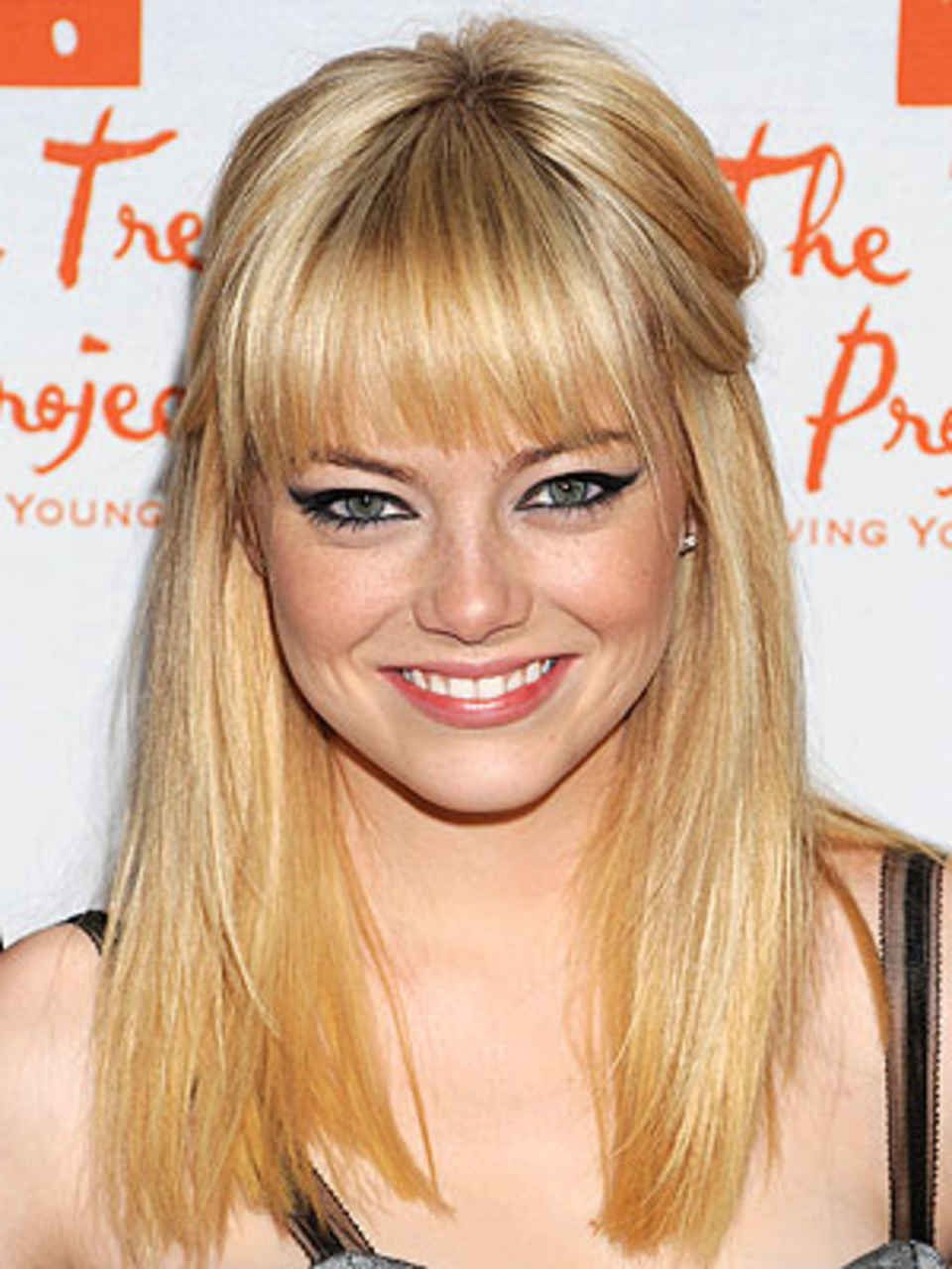 Emma Stone Photo Elle Com Bangs For Round Face Face