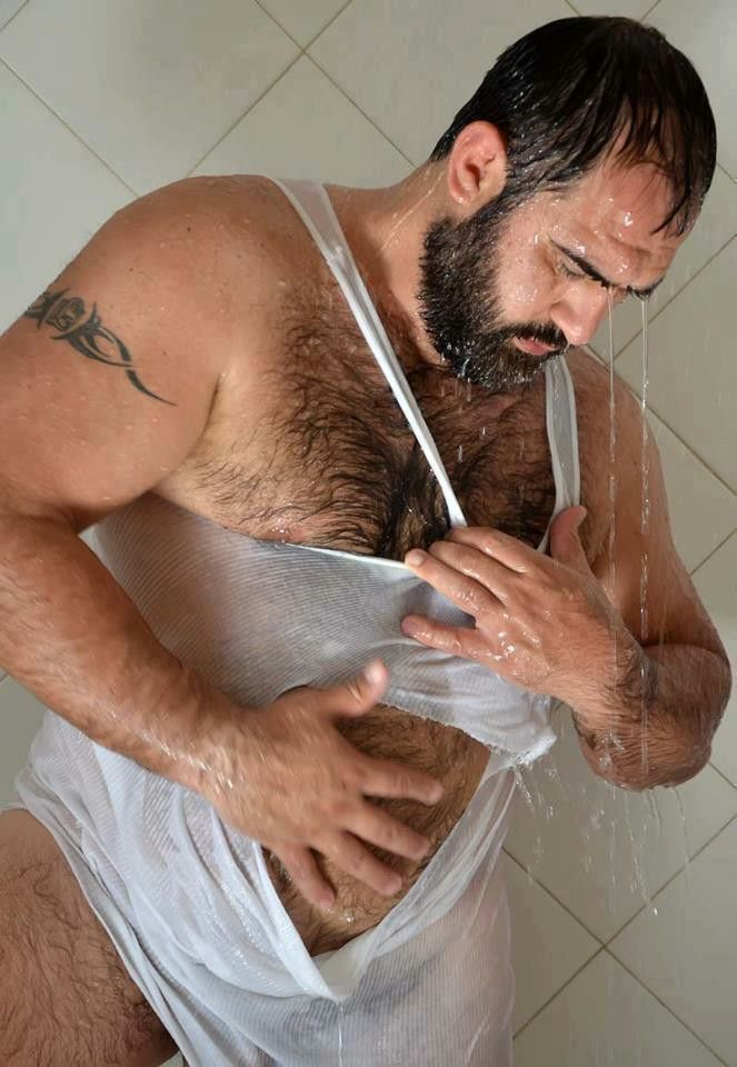 Hairy mature bathroom