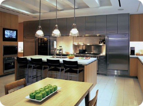 kitchens with sub zero refrigerator Take your kitchen up a notch - led panel küche