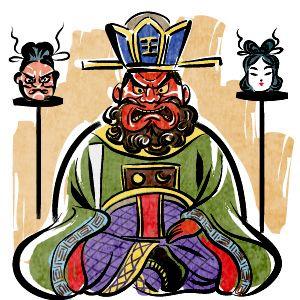 ほおずき市の閻魔大王こんにゃくえんまのイラスト 八千代暦 日本の