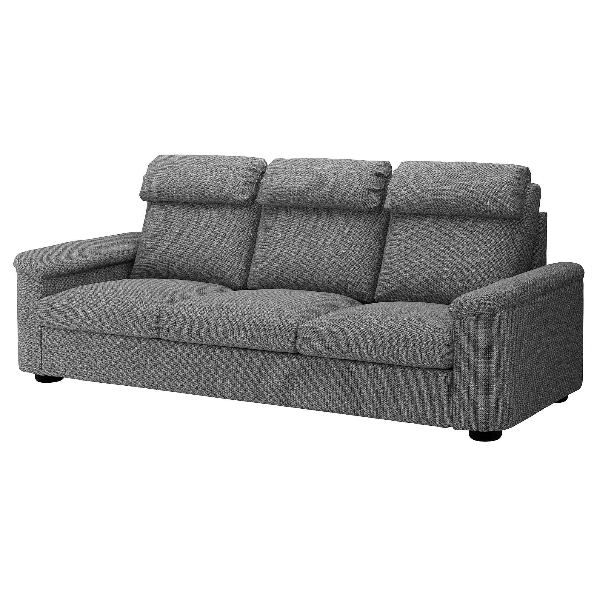 Lidhult Sofa Lejde Gray Black Ikea Sofa Ikea Ikea Sofa