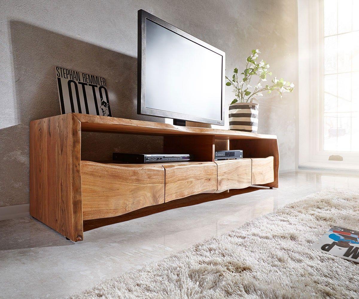 lowboard liveedge 190 cm akazie natur 4 schübe 2 fächer