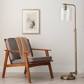 $99 Hudson Industrial Floor Lamp - Brass (Includes C... : Target