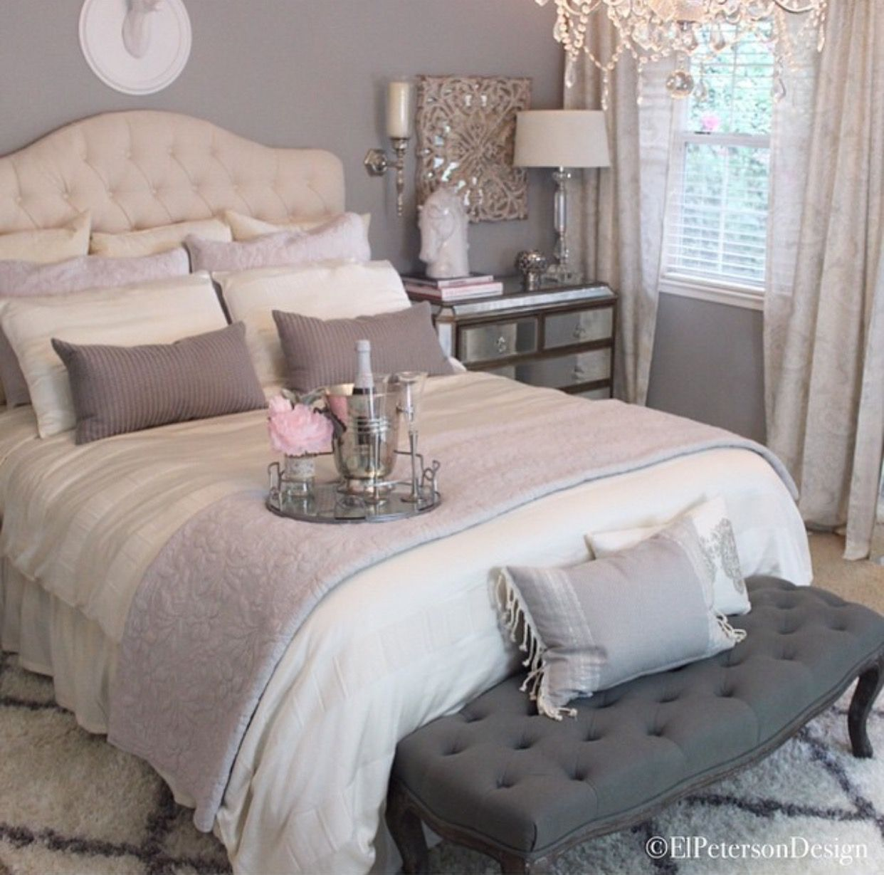 Charmant Oh The Wonderful Little Details In This Neutral, Chic, Romantic Bedroom  Grey Room