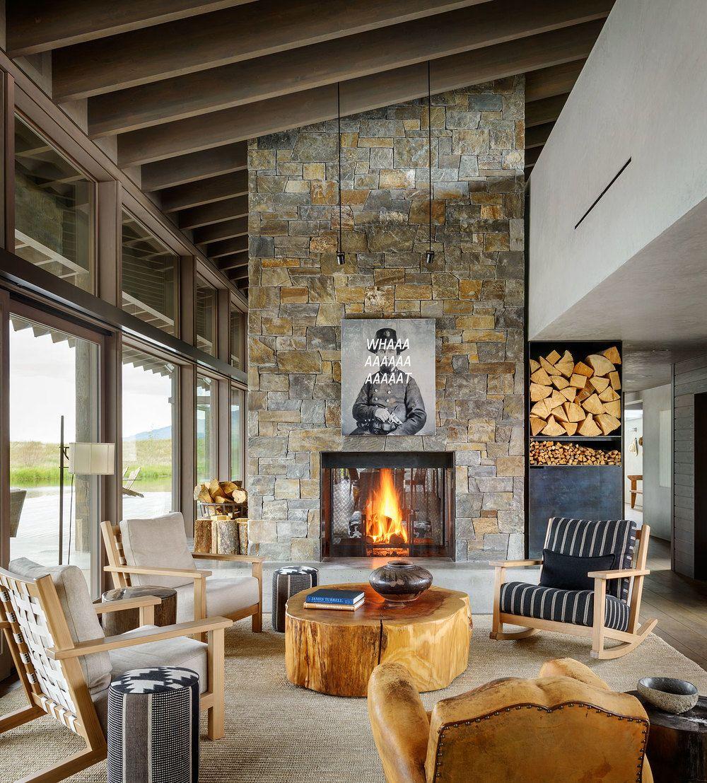 Montana Ranch House By Suyama Peterson Deguchi: Christian Grevstad Interior Design (avec Images)