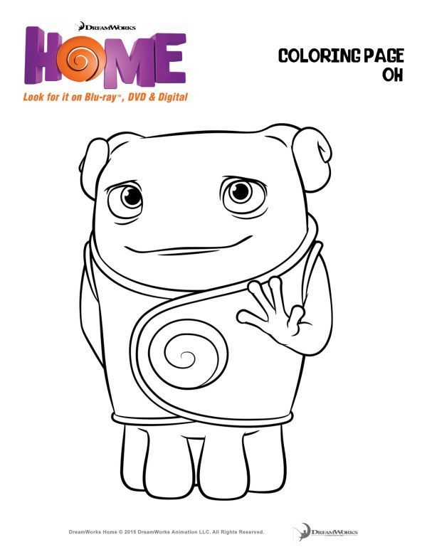 You Must See Dreamworks Animation S Home Home Movies Dreamworks Home Coloring Pages