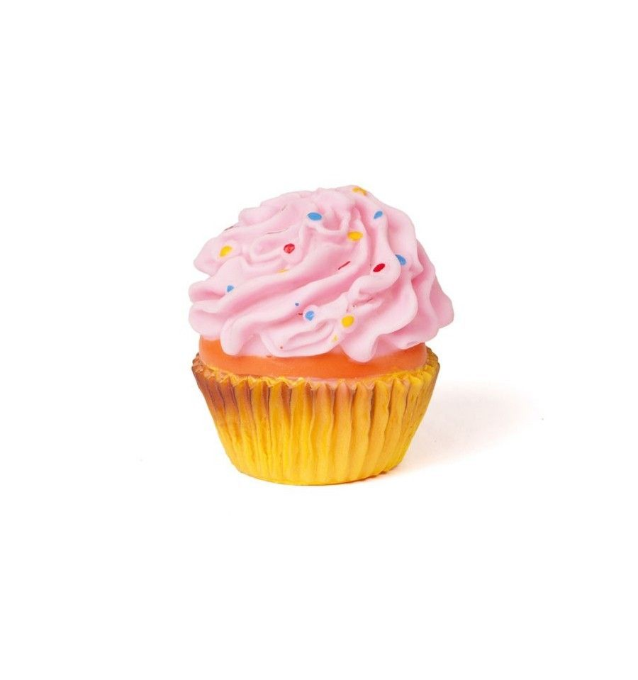 Cupcake Squeaky Dog Toy Delicious Looking Vinyl Cupcake These