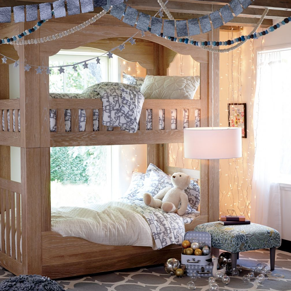 Terrace Bunk Bed The Land Of Nod Bunk Beds Kid Beds Kids