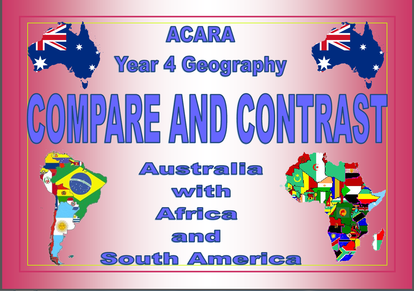 This Activity Consists Of 20 Venn Diagrams  Australia Compared And Contrasted With 10 African