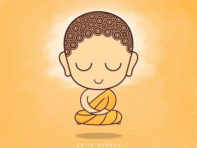 Child Buddha In Levitation Meditation Free Wallpaper 想法 Idea