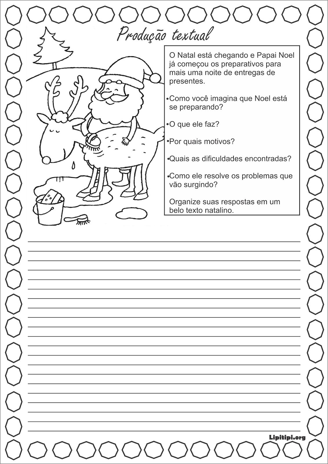 dc614a32b330 Lipitipi- Atividades e Projetos Fundamental I: Sequência Didática Papai Noel  Projeto Natal Fundamental I