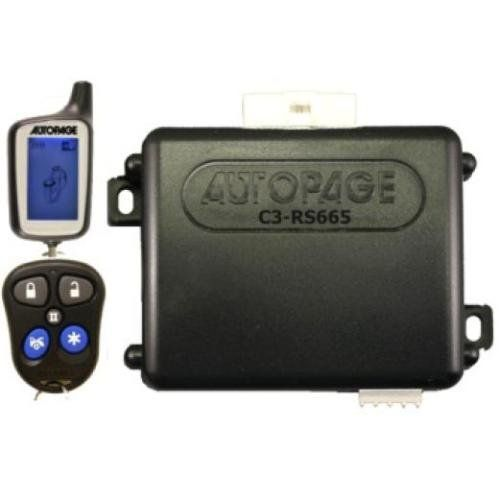 Autopage C3RS665-2W 2 Way Remote Car Start 3 Channel Alarm