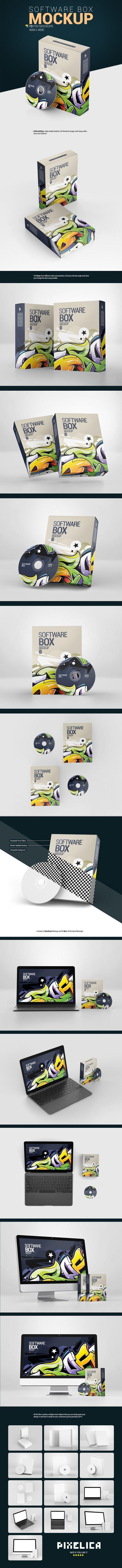 Download Software Box Mockup 778074 Products Design Bundles Box Mockup Business Card Logo Mockup Design