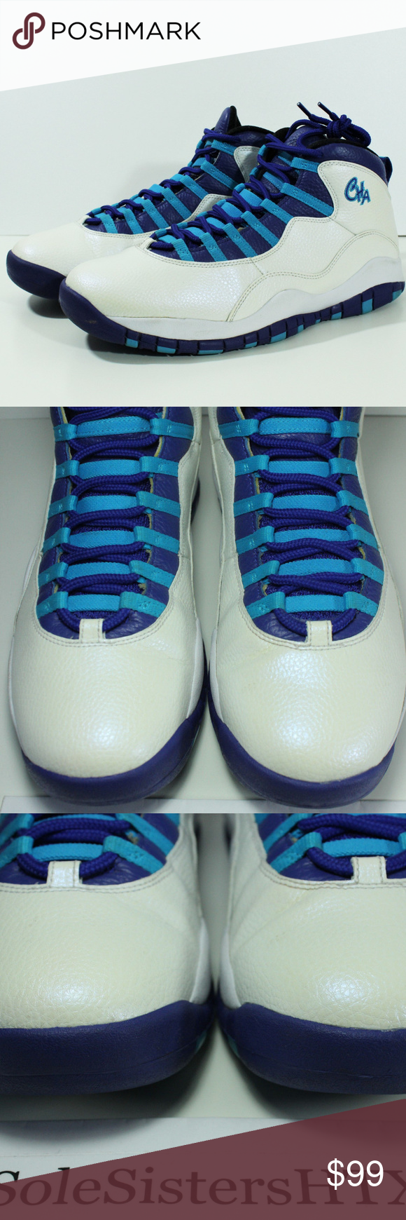 new concept e83d6 c27d2 Nike Air Jordan Retro Charlotte Hornets X 10 Sz 13 100% Authentic Nike Air  Jordan Retro Charlotte Hornets X 11 310805-107 Mens SZ 13 USED NO BOX (USED  ...
