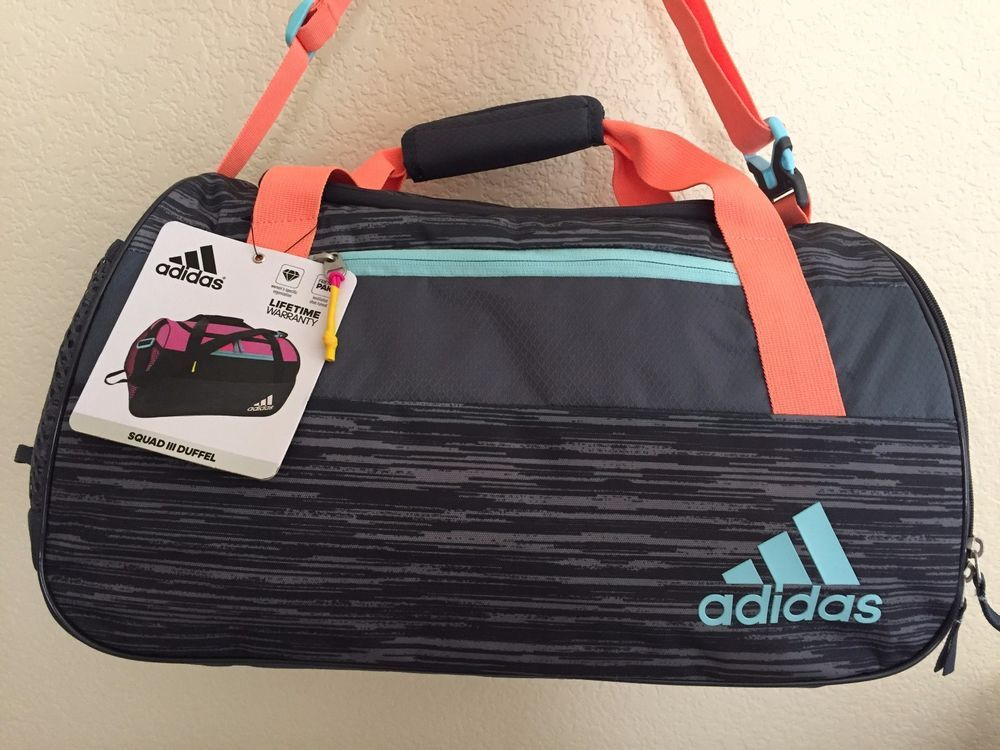 1e6c1747aa24 ADIDAS Squad III Duffel Grey Women Gym bag luggage 11.5