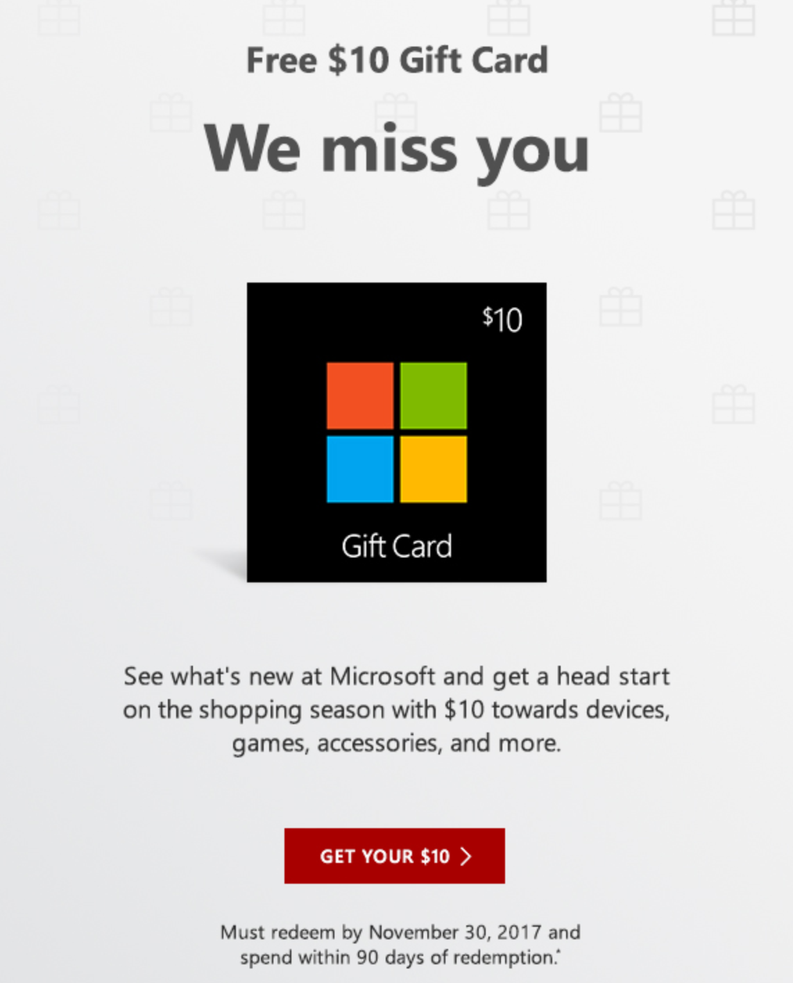 Microsoft Roblox Gift Card Check Your Inbox There S Probably A 10 Microsoft Gift Cards In 2020 Store Gift Cards Gift Card Gift Card Sale
