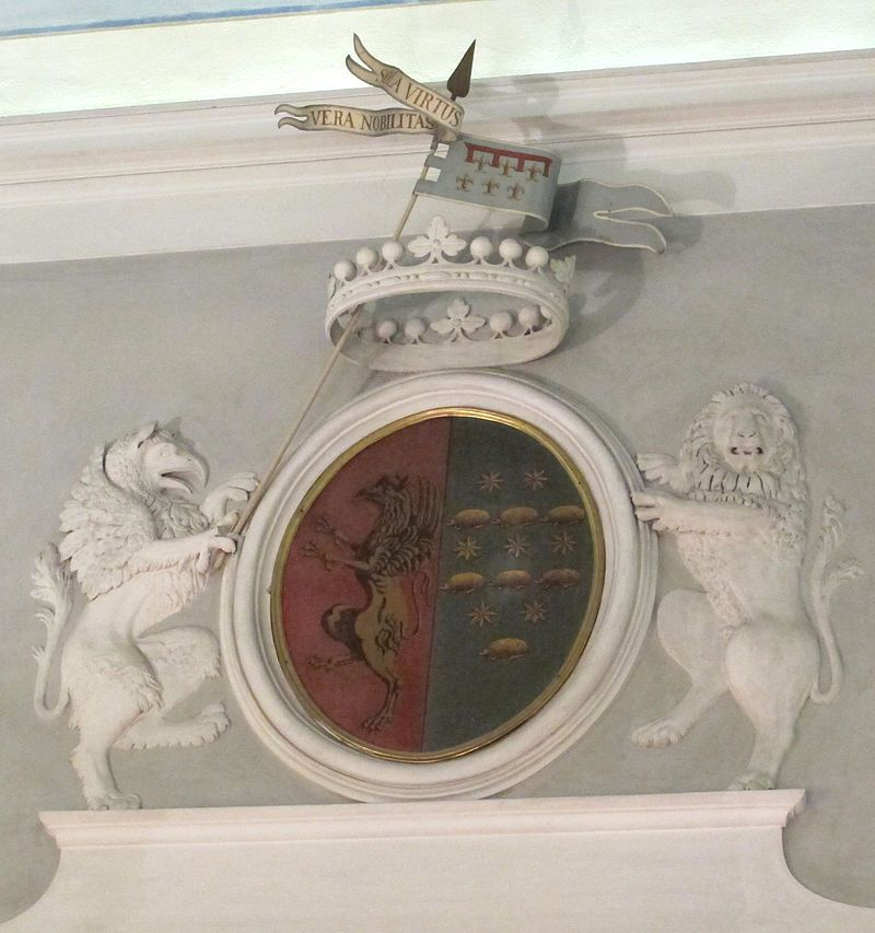 Museo di Casa Martelli - Firenze - Salone da ballo - Stemma Martelli-Ricci.
