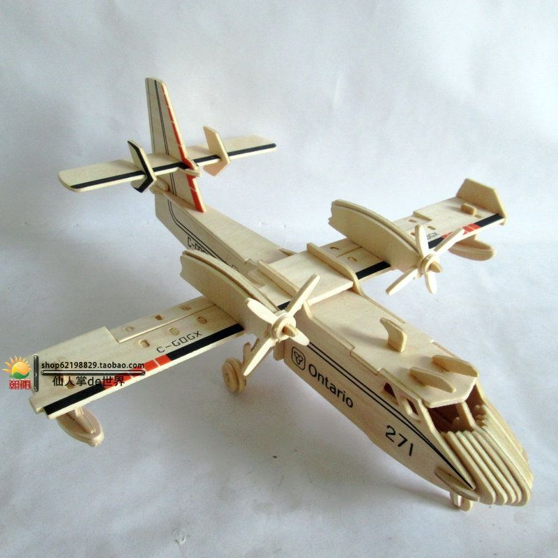 5 Paper Aircraft  3D Puzzles Jigsaw Models Toys For Kids DIY Craft Gifts