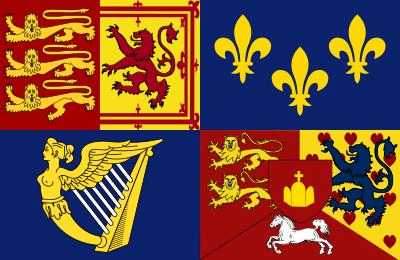 Royal Standard Of The United Kingdom 1714 1801 Historical Flags Flag House Of Stuart