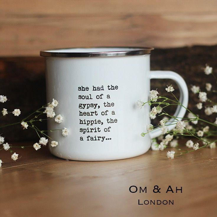 surprising inspiration awesome mugs. Inspirational thoughts Heart of A Hippie  Enamel Mug Thoughts and Wisdom